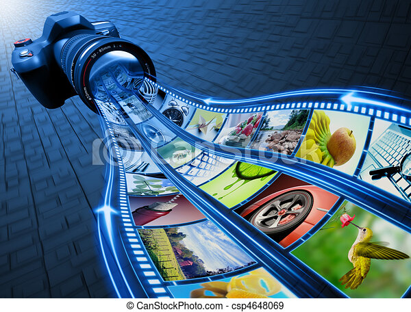 Film Strip Pictures  - csp4648069