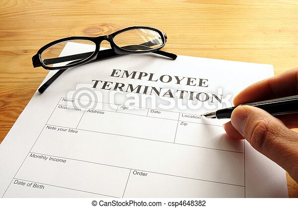 employee termination - csp4648382