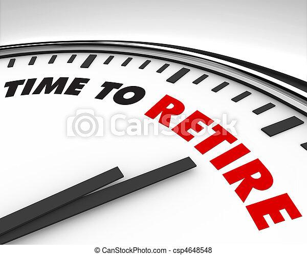 Time to Retire - Clock - csp4648548
