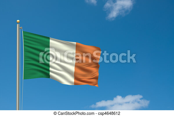 Flag of Ireland - csp4648612