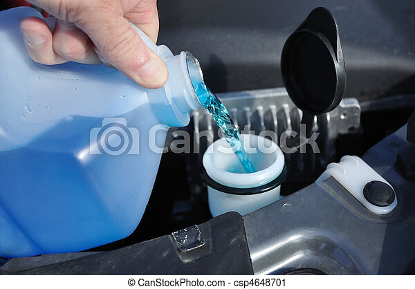 Filling the Windshield Washer Fluid - csp4648701