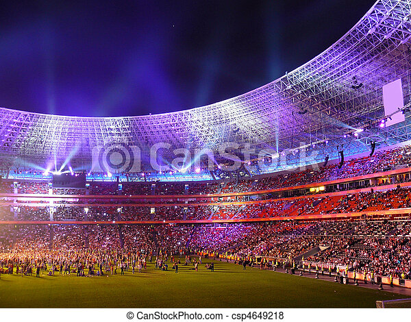 filling soccer fans nightly arena - csp4649218