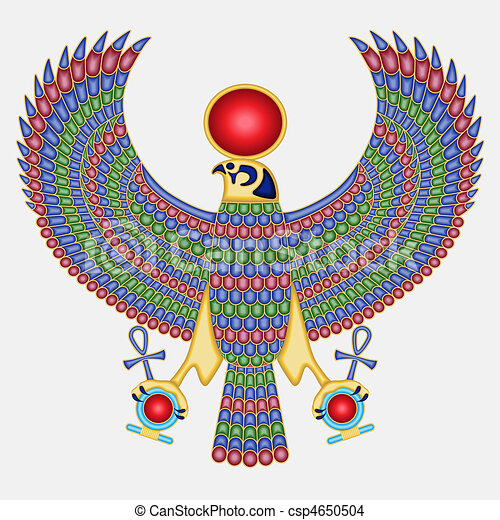 Egyptian falcon pectoral - csp4650504