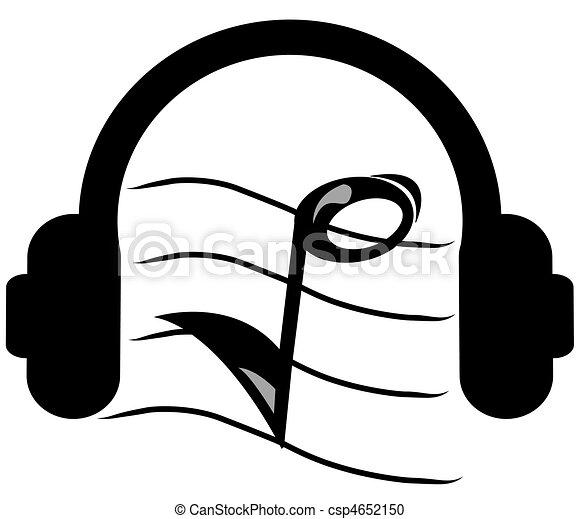headphones listening to music - csp4652150