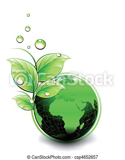 Planet Ecology green design. Vector - csp4652657