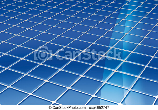 blue tiles floor - csp4652747