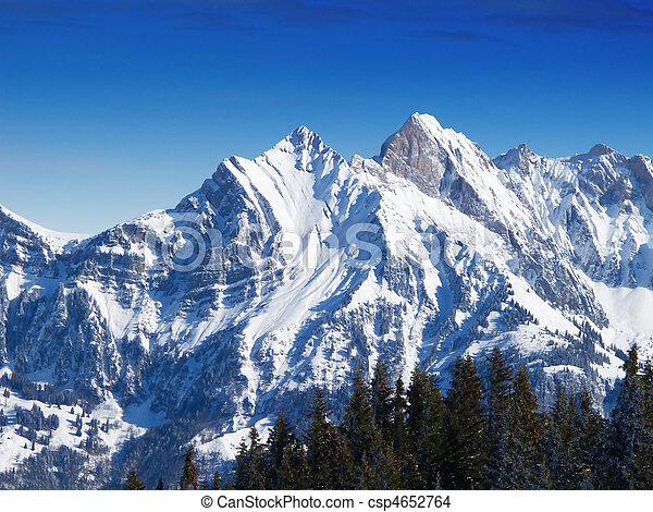Winter in the alps - csp4652764