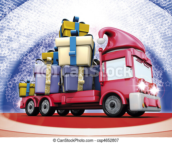 Gift christmas truck - csp4652807