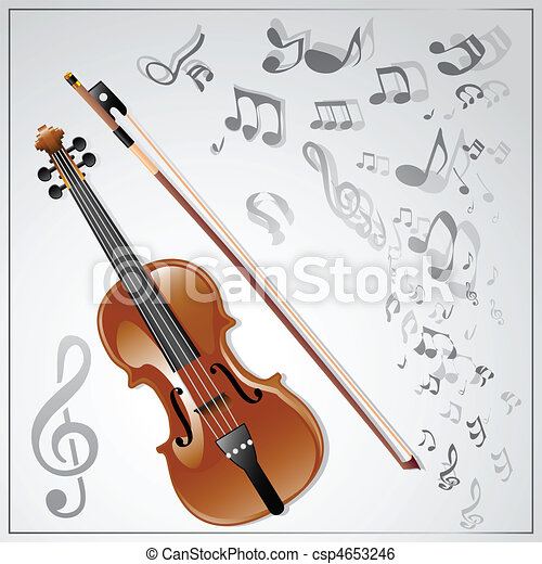 Violin. Musical background - csp4653246