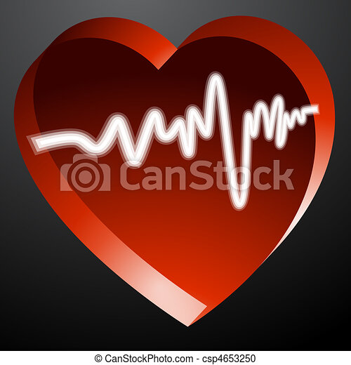 Heart Monitor Pulse - csp4653250