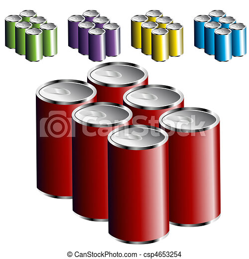 Six Pack Cans - csp4653254