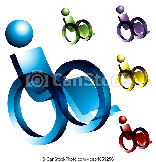 Wheelchair Icons - csp4653256
