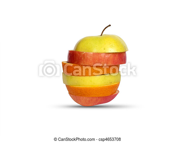 Several layers of sliced fruit - csp4653708