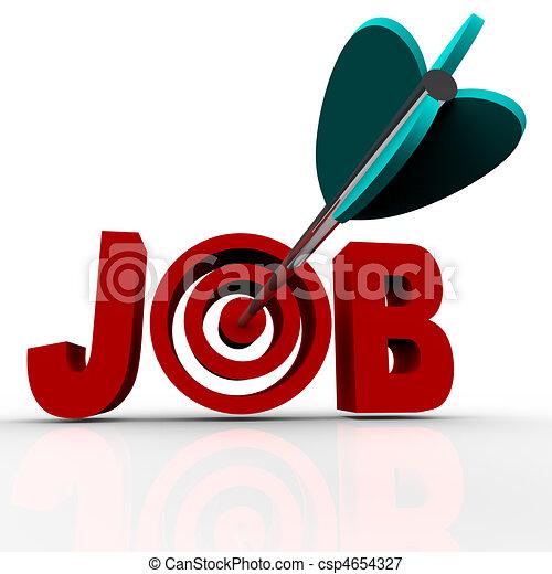 Arrow Hits Bulls-Eye - Job - csp4654327