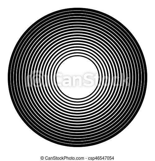 círculos, irradiar, graphic., radial, concéntrico, geométrico, element., circular - csp46547054