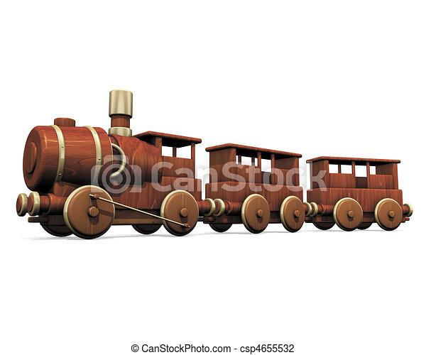 toy wooden train - csp4655532