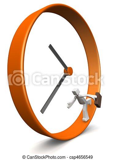 Business men rush hour concept - csp4656549