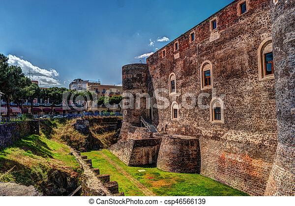 Panorama of the Castello Ursino - csp46566139