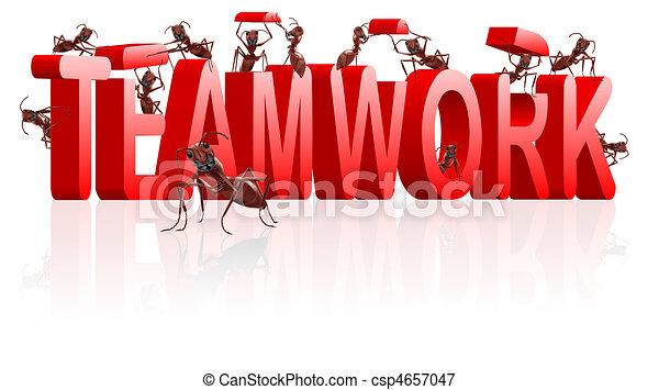 teamwork collaboration or cooperation - csp4657047