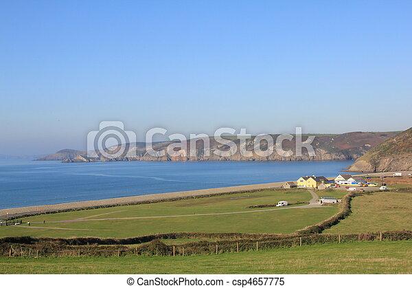 Newgale, Pembrokeshire, Wales - csp4657775