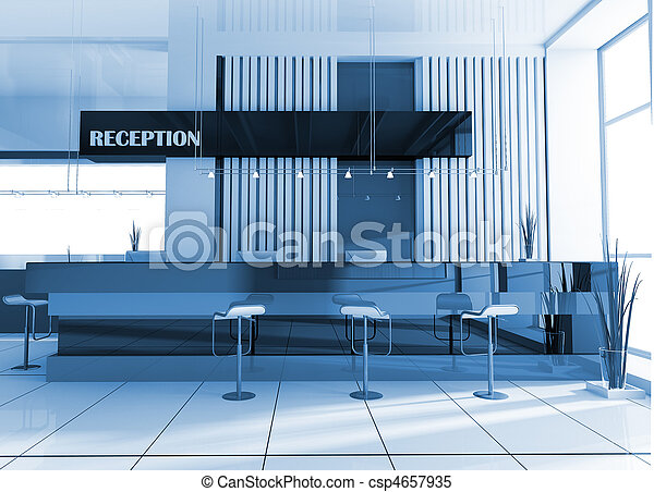Reception in hotel - csp4657935