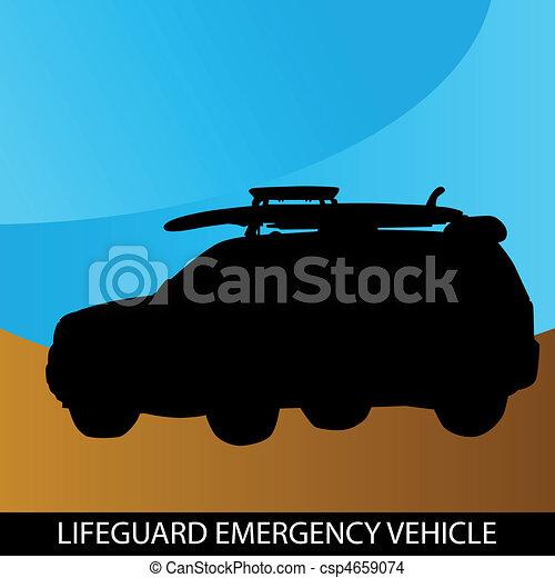 Lifeguard Emergency Vehicle - csp4659074