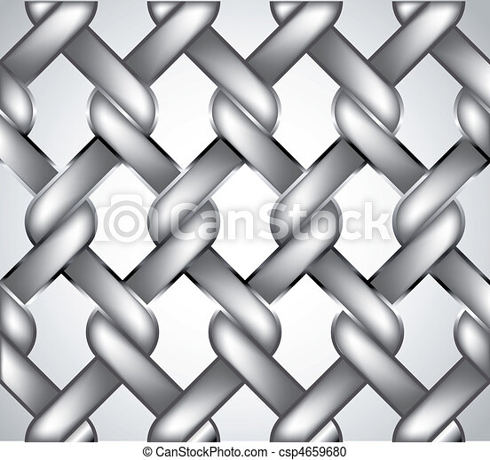 Chain fence. Vector - csp4659680