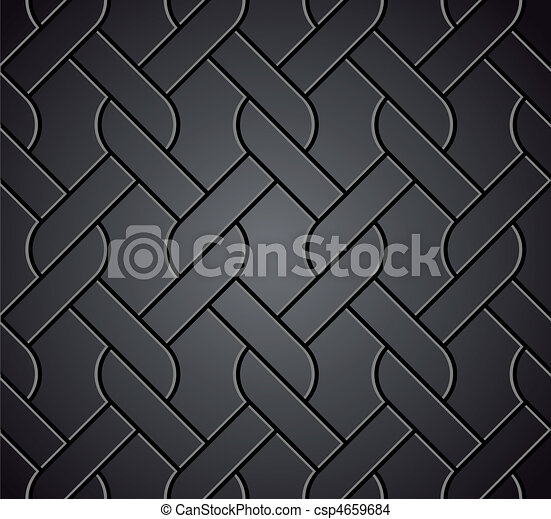 Chainlink fence isolated against on metal. Vector - csp4659684