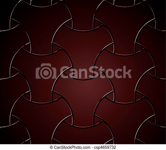 Chain fence isolated against on red. Vector - csp4659732