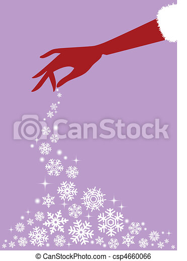 red hand with snowflakes, vector - csp4660066