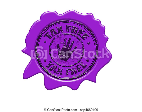 Tax free wax seal - csp4660409