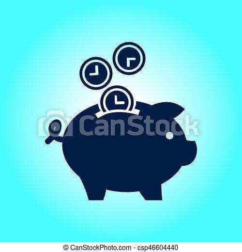 EPS vector de ahorro  dinero hucha  Time es dinero hucha