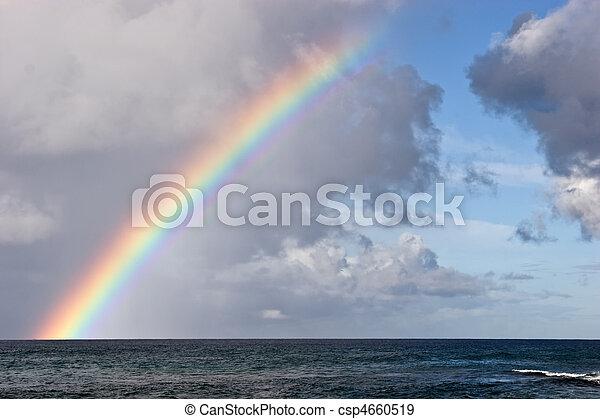 Hawaiian Island Rainbow - csp4660519