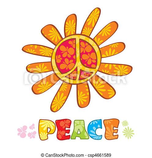 Hippie peace symbol - csp4661589