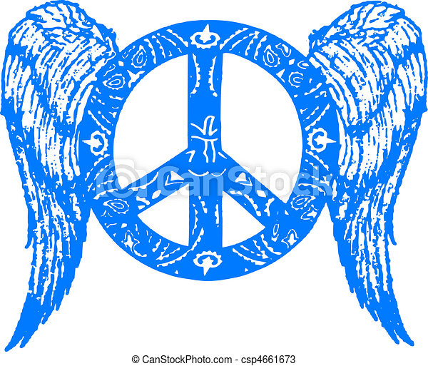 peace with wing symbol - csp4661673