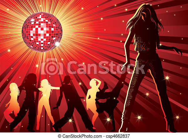People dancing in night-club - csp4662837