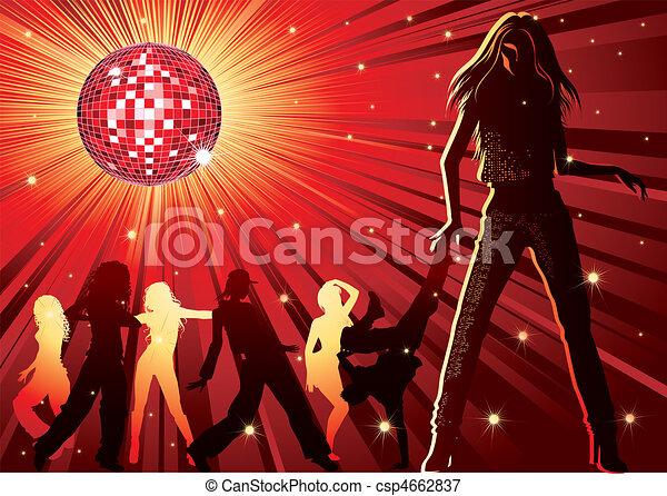 People dancing in night-club - csp4662837
