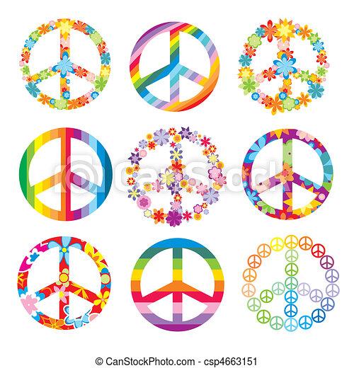 set of peace symbols - csp4663151