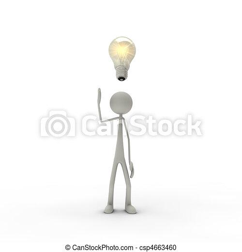 Figure with enlightenment - csp4663460
