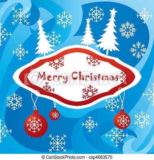 artistic christmas card - csp4663570