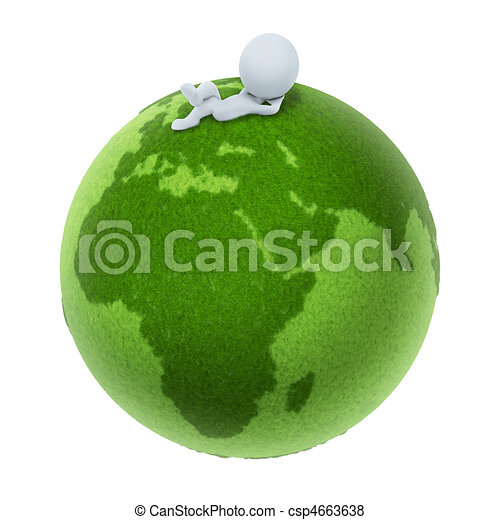 3d small people - Green Earth - csp4663638