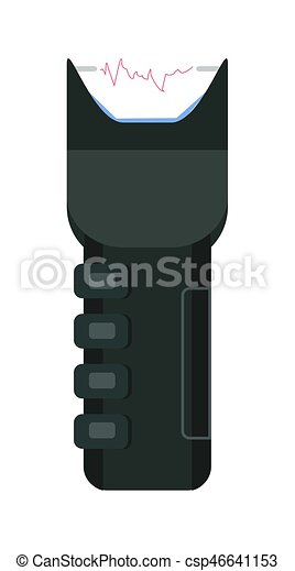 Electric shocker icon of strike stunning device realistic vector illustration - csp46641153