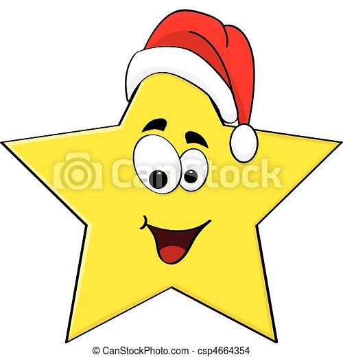 Star Cartoon Drawing Christmas Star Csp4664354