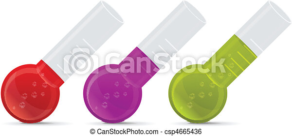 Chemical test tubes icons - csp4665436