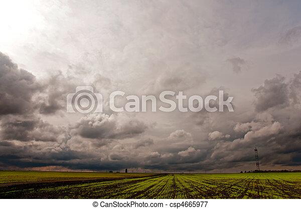 Rising Thunderstorm - csp4665977