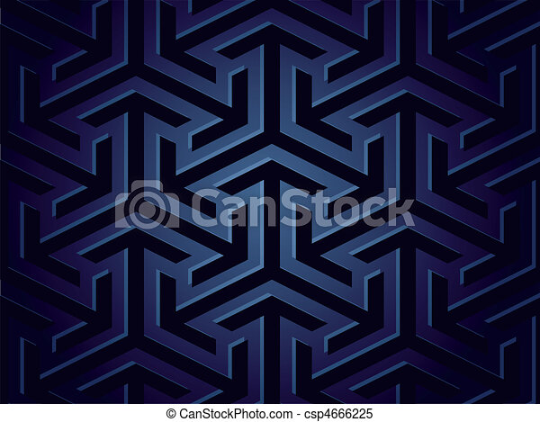 Seamless background of geometric shapes. Vector - csp4666225