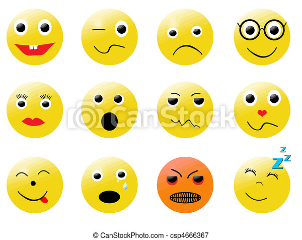 smileys different emotions - csp4666367