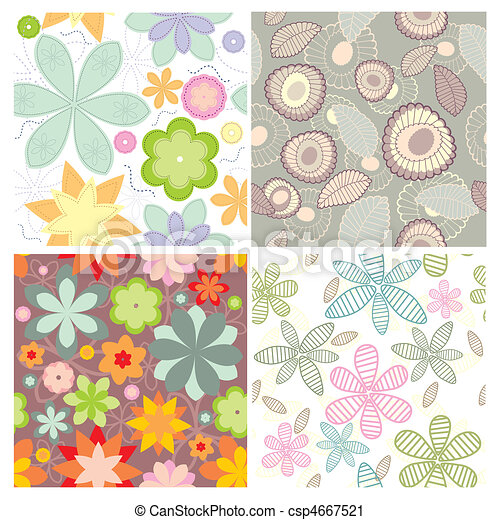 collection of cute seamless wallpaper - csp4667521