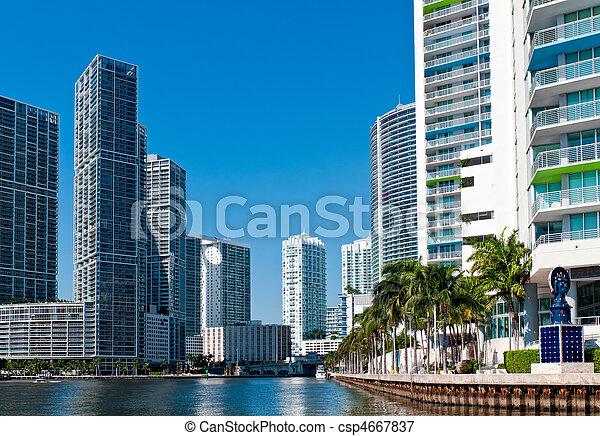 Miami River Condos - csp4667837