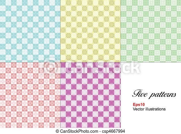 Monochrome geometrical pattern. Ve - csp4667994